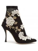 DOLCE & GABBANA Macramé-embroidered sock boots ~ beautiful Italian footwear