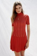 Misha Collection Marianne Mini Dress red lurex. METALLIC STRIPE