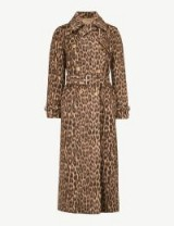 MAX MARA Fiacre leopard-print wool-blend trench coat in camel. BROWN ANIMAL PRINTS