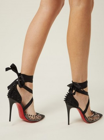CHRISTIAN LOUBOUTIN Mechante Reine stiletto heels | clear PVC pointed toes - flipped