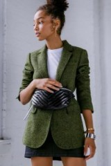 REBECCA MINKOFF Merilee Green Tweed Jacket | autumn colours