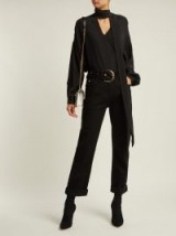 BALMAIN Black Belted Mid-rise straight-leg jeans ~ casual chic