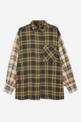 TOPSHOP Mixed Check Oversized Shirt
