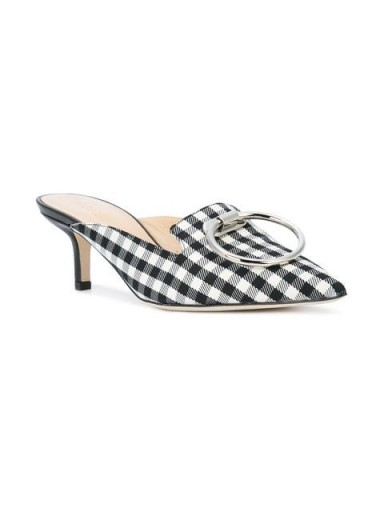 MONSE checked pointed mules / gingham print kitten heels