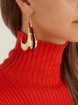 MARNI Moon drop earrings ~ large hammered gold-tone drops