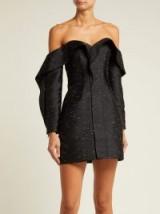 SELF-PORTRAIT Off-the-shoulder jacquard mini dress ~ lbd