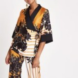 River Island Orange print kimono wrap top | oriental inspiration