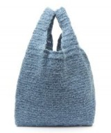 Orco Knitted Shopper Bag in Blue | wool mix bags