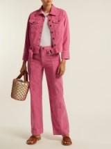 M.I.H JEANS Paradise pink corduroy wide-leg trousers – casual cord pants