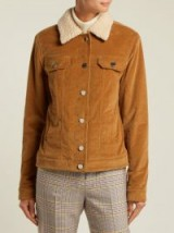 GABRIELA HEARST Pascoal camel-brown corduroy cashmere-shearling jacket – cord autumn jackets