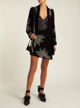 DODO BAR OR Paula embellished black velvet mini skirt / shimmering embellishments