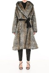 PHILOSOPHY DI LORENZO SERAFINI Leopard Printed Faux Fur Coat. WILD ANIMAL PRINTS