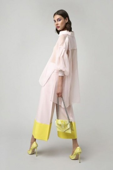Ralph & Russo Resort 2019 womenswear collection / blush and yellow look great together! - flipped