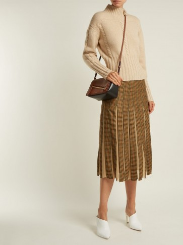GABRIELA HEARST Ramiro houndstooth cashmere and silk skirt ~ effortless style