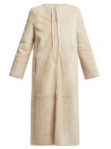YVES SALOMON Reversible white shearling coat ~ luxe outerwear