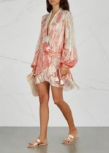 ROCOCO SAND Nida paisley-print lamé dress ~ luxe look clothing
