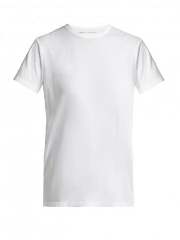 SUMMA Round-neck short-sleeved T-shirt / classic white tee