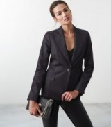 REISS ROWAN TAILORED DENIM BLAZER NAVY ~ effortless style
