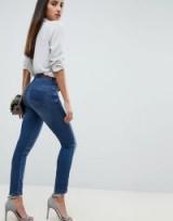 Salsa secret waist sculpting skinny jean in 8506 medium dark wash | denim skinnies