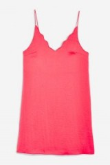 Topshop Pink Scallop Mini Slip Dress | strappy cami style frock