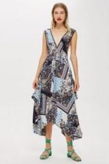 Topshop Scarf Print Pini Dress – asymmetric hem – handkerchief