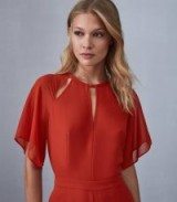 SCARLET WIDE LEG JUMPSUIT RED ~ sheer floaty sleeves ~ keyhole cut-out neckline ~ little details make beautiful clothing