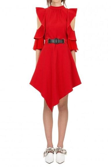 Self Portrait Asymmetric Jersey Dress - flipped