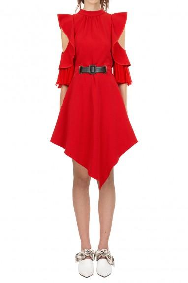 Self Portrait Asymmetric Jersey Dress