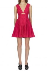 Self Portrait Cut Out Broderie Anglaise Mini Dress