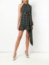 SELF-PORTRAIT windowpane asymmetric dress / check print