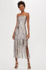 Topshop Sequin Fringe Bandeau Dress / luxe style strapless dress