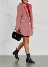SHRIMPS Bridget pink faux-shearling coat | autumn luxe