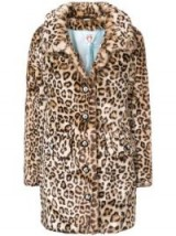 SHRIMPS leopard print faux fur coat / brown tone animal prints