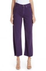 SIMON MILLER High Waist Wide Leg Jeans in Royal Purple | coloured denim
