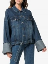 SJYP Denim Jackets With Roll Up Cuffs | oversized jackets