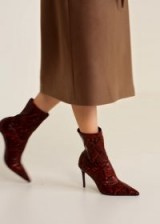 MANGO Snake-effect ankle boots | reptile prints | autumnal colours