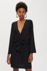 Topshop Tiffany Knot Mini Dress in Black | LBD