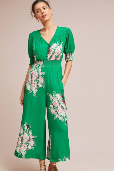 Tracy Reese Longwood Floral Jumpsuit in Green