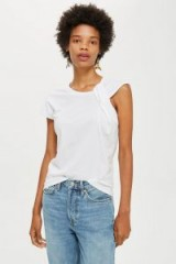 Topshop Twist Strap Tank Top in White | chic tee
