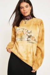 UO Tie-Dye Printed Graphic Sweatshirt in Yellow – animal prints