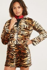 Urban Renewal Vintage Remnants Tiger Print Faux Fur Jacket. ANIMAL PRINTS