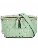 VALENTINO Valentino Garavani Free Rockstud Spike belt bag in mint | light-green leather fanny pack