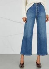 VINCE Blue cropped wide-leg jeans | crop leg