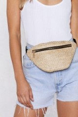 Nasty Gal What a Cata-straw-phe Straw Fanny Pack natural / neutral bum bag