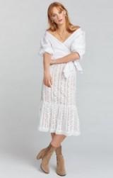 show me your Mumu WARREN SKIRT DRESS DAINTY DARLING CROCHET LACE
