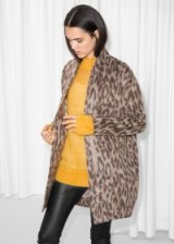 & other stories Wool-Blend Coat Leopard. ANIMAL PRINT COATS FOR AUTUMN 2018