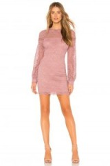 About Us ISABELLE DRESS in Mauve | lace mini | perfect party frock