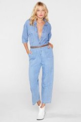 Nasty Gal After Party Vintage All In One Go Denim Jumpsuit in blue light wash / retro fashion