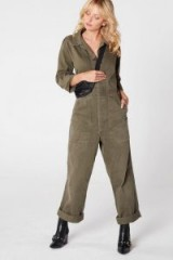 Nasty Gal After Party Vintage On the Job Utility Jumpsuit in Khaki | utilitarian fashion