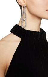 ALEXANDER WANG Diamante Oval-Link Earrings ~ event glamour